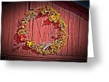 Barn Wreath Greeting Card