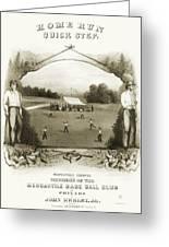 Baseball, 1861 Greeting Card