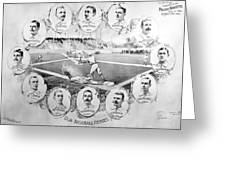 Baseball, 1895 Greeting Card