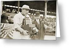 Baseball: Camera, C1911 Greeting Card