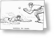 Baseball Players, 1889 Greeting Card