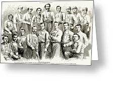 Baseball Teams, 1866 Greeting Card