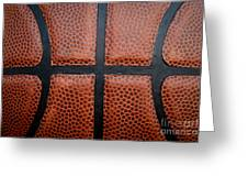 Basketball - Leather Close Up Greeting Card