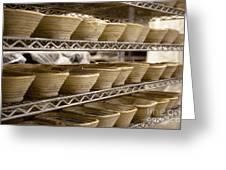 Baskets At A Bakery Greeting Card