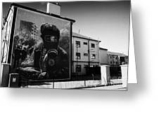 Battle Of The Bogside Mural Derry Greeting Card
