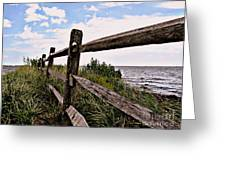 Bayfront Fence Greeting Card