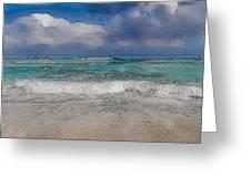 Beach Background Greeting Card