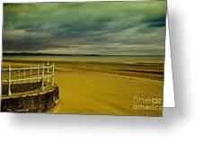Beach Of Leight Edinburgh Greeting Card by Elena Mussi