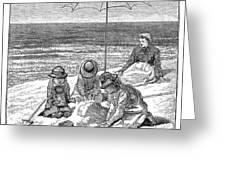 Beach Scene, 1879 Greeting Card