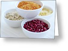 Beans And Pulses Greeting Card