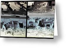 Before And After Hurricane Eloise 1975 Greeting Card