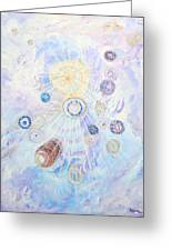 Beings Of Light Greeting Card by Judy M Watts-Rohanna