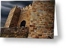 Belver Castle Greeting Card by Carlos Caetano