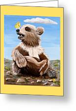 Ben Bear And Butterfly Greeting Card
