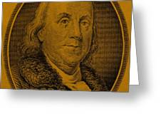 Ben Franklin In Orange Greeting Card