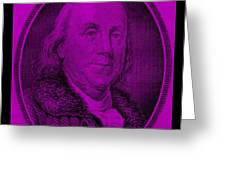 Ben Franklin In Purple Greeting Card