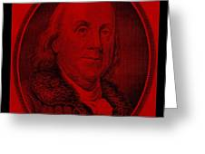 Ben Franklin In Red Greeting Card