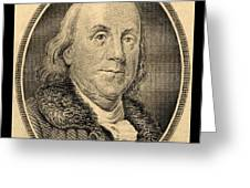 Ben Franklin In Sepia Greeting Card