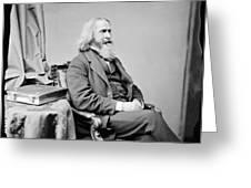Benjamin Peirce, American Mathematician Greeting Card