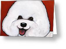 Bichon Frieze Greeting Card by Leanne Wilkes