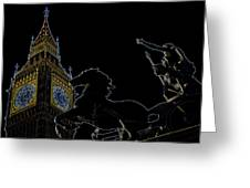Big Ben And Boudica Greeting Card