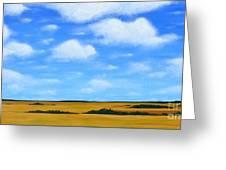 Big Sky Prairie Greeting Card by Holly Donohoe