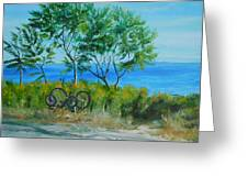 Bikes Waiting				 Greeting Card