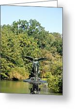 Birdbath Of Central Park Greeting Card