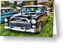Black And White Chevy Greeting Card