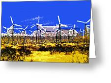 Blowing In The Wind Greeting Card by David Lee Thompson