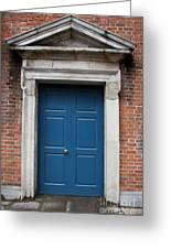 Blue Irish Door Greeting Card