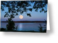 Blue Moon Of August  Greeting Card
