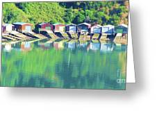 Boat House Reflections Greeting Card