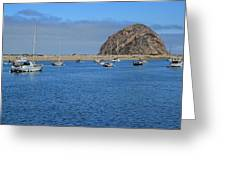 Boats And Blue Water Greeting Card