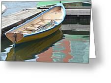 Boats Of Boston Harbor Greeting Card by Susan McNamara