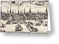 Boston, 1743 Greeting Card