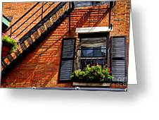 Boston House Fragment Greeting Card
