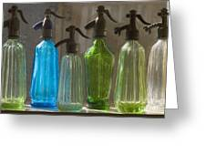 Bottle Of Water Greeting Card