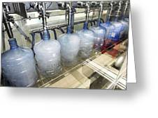 Bottled Water Production Greeting Card