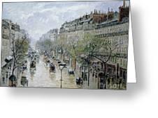 Boulevard Montmartre Greeting Card