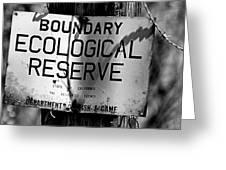 Boundary Greeting Card