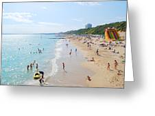 Bournemouth Beaches Greeting Card