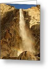 Bridal Veil Falls At Yosemite Greeting Card