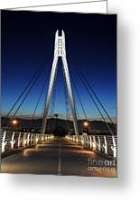 Bridge To Twilight Greeting Card