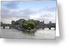 Bridges On River Seine. Paris. France Greeting Card