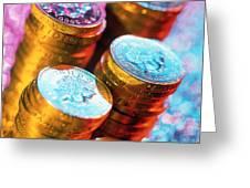 British Pound Coins Greeting Card