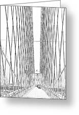 Brooklyn Bridge Greeting Card