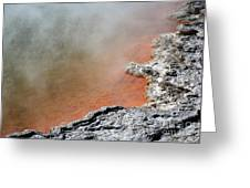 Bubbles Rising In Champagne Pool Hot Greeting Card