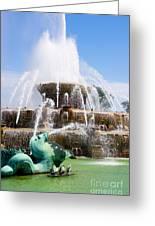 Buckingham Fountain In Chicago Greeting Card