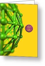 Buckyball Molecules, Artwork Greeting Card